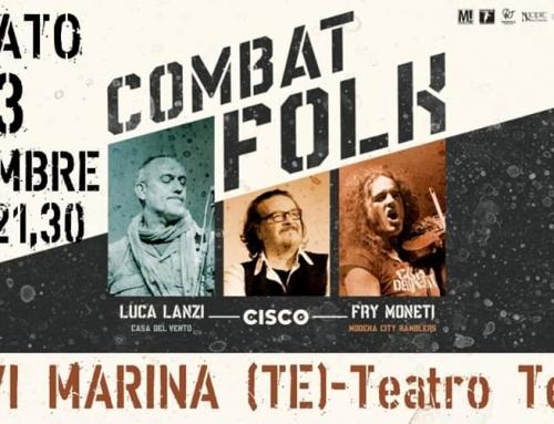 Sabato 23 novembre Silvi Marina, Teatro tenda sul lungomare, Combat folk tour