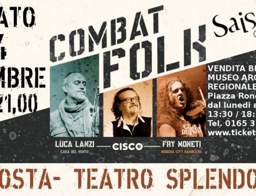 Sabato 14 dicembre Aosta – Teatro Splendor, Combat folk tour insieme a Philippe Millerett