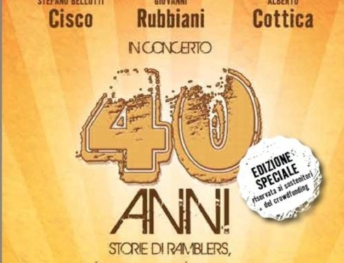 Da Venerdì 17 settembre è disponibile su tutti i digital store , il mitologico live di 40anni , eseguito insieme agli amici Giovanni Rubbiani e Alberto Cottica!